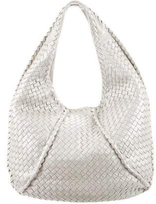 Bottega Veneta Intrecciato Metallic Cervo Leather Hobo