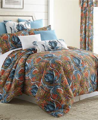 Colcha Linens Tropical Bloom Comforter Set Super King Bedding