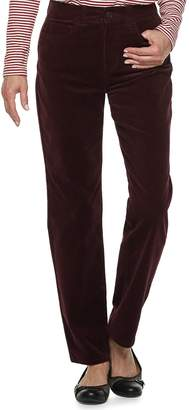 Croft & Barrow Women's Comfort Waist Straight-Leg Corduroy Pants