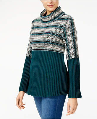 Style&Co. Style & Co Petite Turtleneck Babydoll Sweater, Created for Macy's