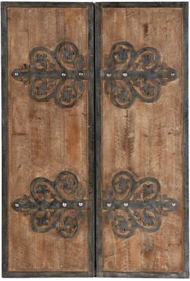 A&B Home A & B Home Set Of 2 Emblem Wood Panels