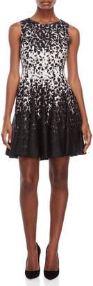Eliza J Petite Printed Fit & Flare Dress