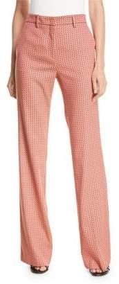 Etro Mid-Rise Deco Jacquard Flare-Leg Pants