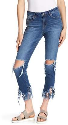 William Rast Frayed Hem Ankle Skinny Jeans