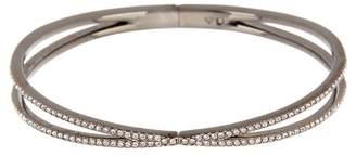 Nadri Crystal Pave Hinged Bracelet