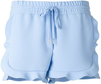 Carven ruffled shorts $292.63 thestylecure.com