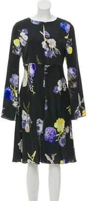 Acne Studios Long-Sleeve Printed Dress
