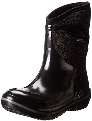 Bogs Women's Plimsoll Quilted Floral Mid Waterproof Insulated Boot