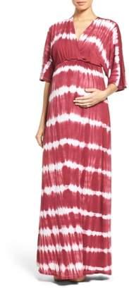 Fillyboo 'Dream Shakey' Tie Dye Maternity Maxi Dress