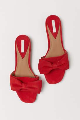 H&M Suede Slides - Red
