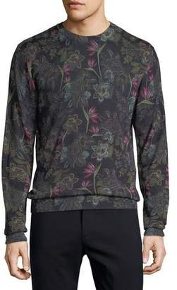 Etro Men's Floral Wool-Blend Sweater