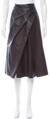 Rachel Comey Vegan Leather Midi Skirt