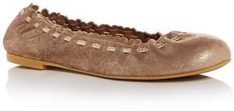 See by Chloe Women's Nubuck Leather Ballet Flats