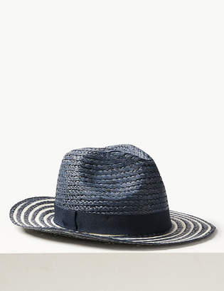 20d18b0b M&S CollectionMarks and Spencer Striped Fedora Hat