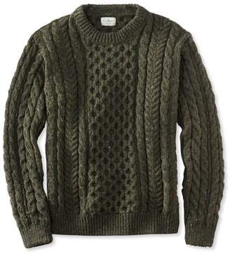 L.L. Bean L.L.Bean Men's Heritage Sweater, Irish Fisherman's Crewneck