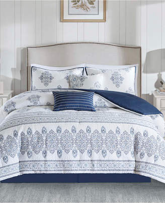 Harbor House Sanibel 6PC Quilted Damask Print California King Comforter Set Bedding