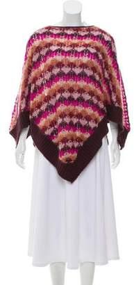 Missoni Knit Rib Knit-Trimmed Poncho