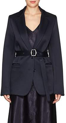 Sies Marjan Women's Belted Wool-Blend Satin Two-Button Blazer