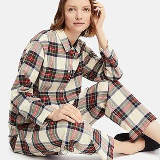 Uniqlo Women's Flannel Long-sleeve Pajamas