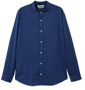 Mango man MANGO MAN Regular-fit mao collar cotton shirt