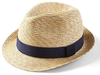 Banana Republic Natural Straw Fedora Hat
