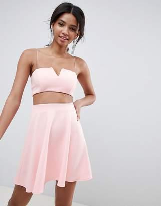Asos Design DESIGN Two-Piece Mini Skater Dress