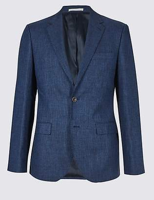 M&S Collection Big & Tall Linen Miracle Tailored Fit Jacket