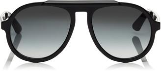 Jimmy Choo RON Dark Grey Shaded Aviator Sunglasses with Black Frame