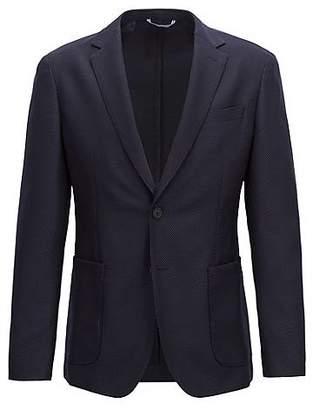 HUGO BOSS Slim-fit blazer in a washable virgin-wool blend