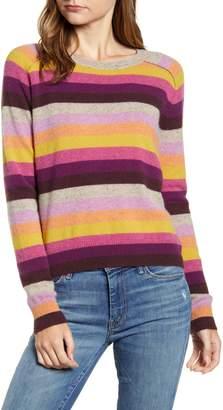 Velvet by Graham & Spencer Cashmere Multi Stripe Sweater
