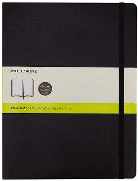 Moleskine NEW Classic Soft Cover Notebook XL Plain Black