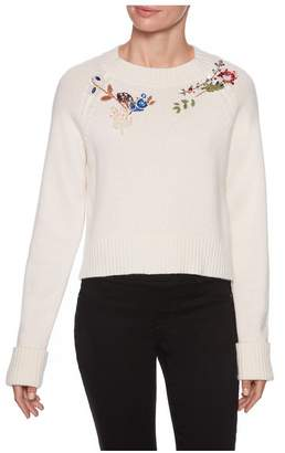 Magaschoni Long Sleeve Beaded Sweater