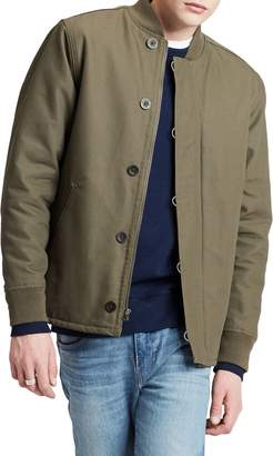 Levi's Deck Faux Shearling-Lined Cotton Bomber Jacket