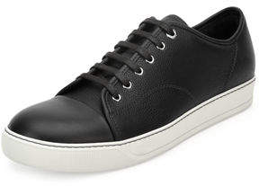 Lanvin Grainy Leather Low-Top Sneaker