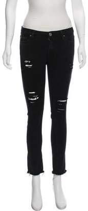 IRO Distressed Mid-Rise Jeans