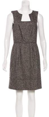 Oscar de la Renta Camel Hair-Blend Mini Dress Black Camel Hair-Blend Mini Dress