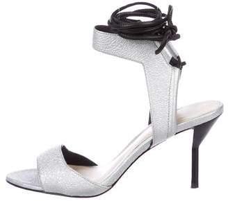 3.1 Phillip Lim Metallic Leather Wrap-Around Sandals