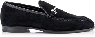 Jimmy Choo MARTI Black Reverse Suede Loafers
