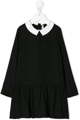 Bonpoint contrast collar dress