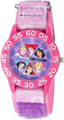 Disney Girl's 'Cinderella' Quartz Plastic and Nylon Automatic Watch, Color: (Model: W002949)