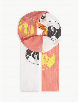 MIDNIGHT STUDIOS Printed oversized scarf