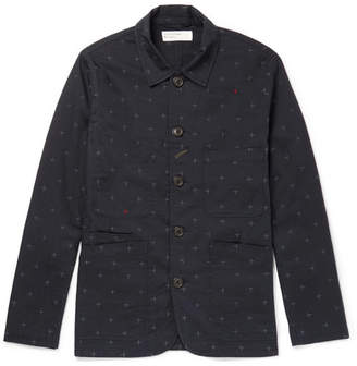 Universal Works Embroidered Cotton-Twill Overshirt