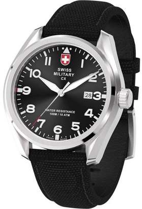 Swiss Military by Charmex By Charmex Men's Pilot Silver Tone Fabric Band Watch