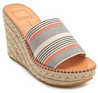 Dolce Vita Women's Pim Platform Wedge Espadrille Slide Sandals