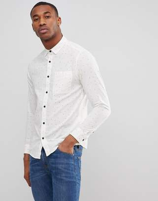 ONLY & SONS Shirt in Slim Fit All Over Ditsy Print
