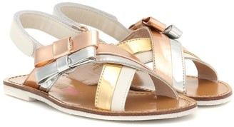 Sophia Webster Mini Andie Bow leather sandals