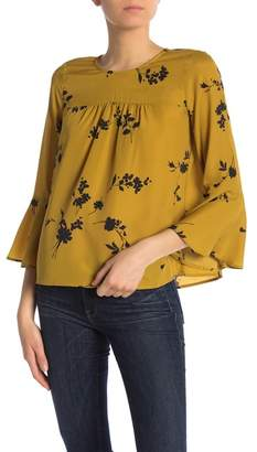 Joie Awilda Floral Bell Sleeve Blouse