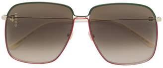 Gucci large square sunglasses