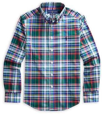 Ralph Lauren Childrenswear Boy's Plaid Cotton Shirt
