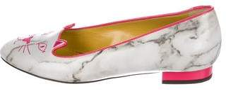 Charlotte Olympia Kitty Patent Leather Flats